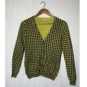 Forever 21 Yellow and Black Houndstooth Ca…